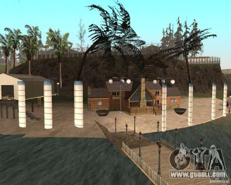 Villa in the fishing lagoon for GTA San Andreas