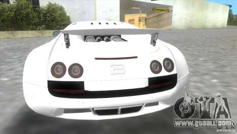 Bugatti ExtremeVeyron for GTA Vice City back view