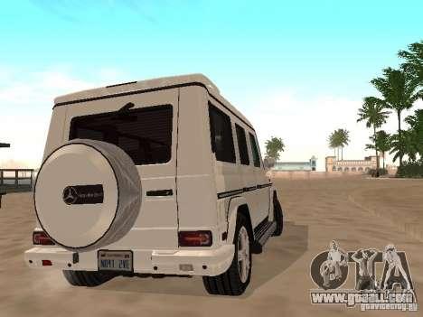 Mercedes-Benz Galendewagen G500 for GTA San Andreas inner view