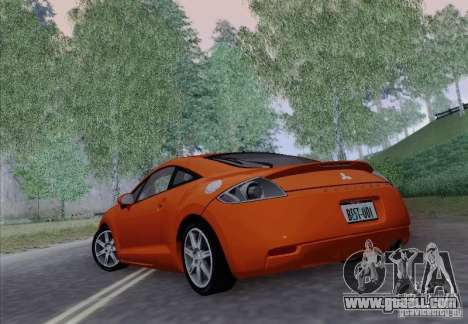 Mitsubishi Eclipse GT V6 for GTA San Andreas inner view