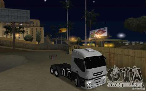 Iveco Stralis Double Trailers for GTA San Andreas back view