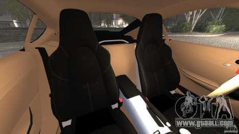 Porsche Cayman R 2012 for GTA 4 inner view