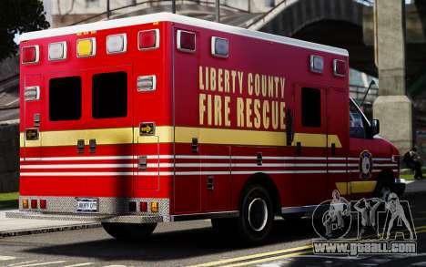 Ford Econoline E350 Ambulance for GTA 4 back left view