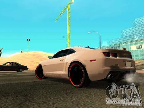 Chevrolet Camaro SS 2010 for GTA San Andreas back left view