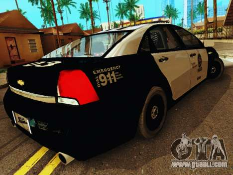 Chevrolet Caprice 2011 Police for GTA San Andreas right view
