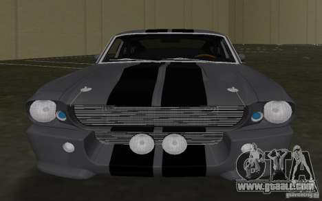 Shelby GT500 Eleanor for GTA Vice City inner view
