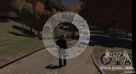 GTA 5 Weapon Wheel HUD for GTA 4 third screenshot