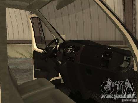 GAZ 2752 Sobol Business for GTA San Andreas inner view