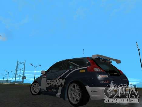 Volvo C30 Race for GTA San Andreas back left view