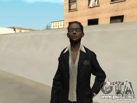 F.B.I female skin for GTA San Andreas second screenshot