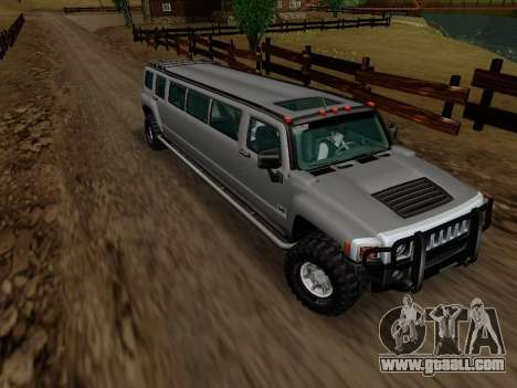 Hummer H3 Limousine for GTA San Andreas back view