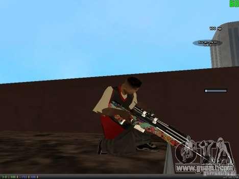 Graffiti Gun Pack for GTA San Andreas fifth screenshot