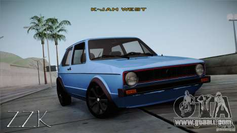 Volkswagen Golf MK1 for GTA San Andreas back left view