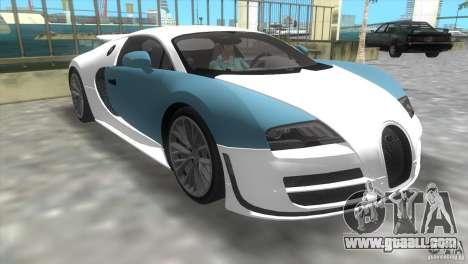 Bugatti ExtremeVeyron for GTA Vice City left view