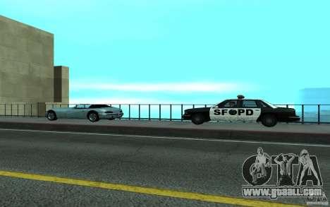 Police at the bridge, San Fierro for GTA San Andreas