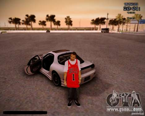 Skin Chicago Bulls for GTA San Andreas second screenshot