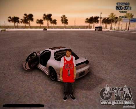 Skin Chicago Bulls for GTA San Andreas second screenshot
