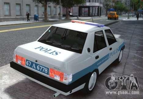 Tofas Sahin Turkish Police ELS for GTA 4 back left view