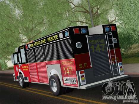 Pierce SFFD Rescue for GTA San Andreas right view