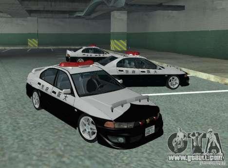 Mitsubishi Galant Police for GTA San Andreas left view