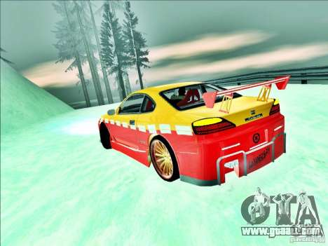 Nissan Silvia S15 Calibri-Ace for GTA San Andreas back view