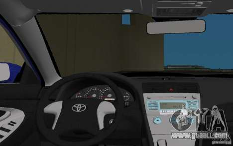 Toyota Camry 2007 for GTA Vice City bottom view