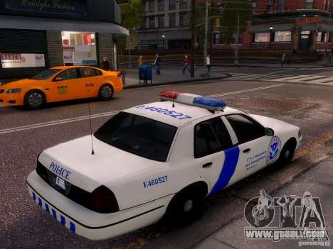 Ford Crown Victoria Homeland Security for GTA 4 left view