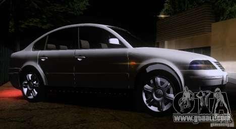 Volkswagen Passat B5+ for GTA San Andreas inner view