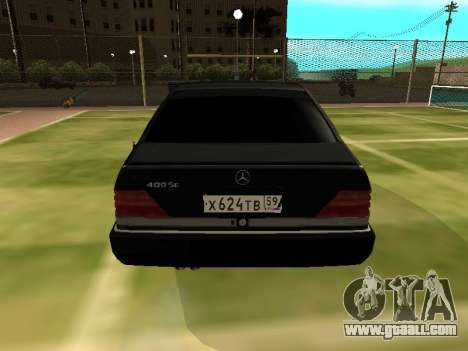 Mercedes-Benz S400 SE W140 for GTA San Andreas right view