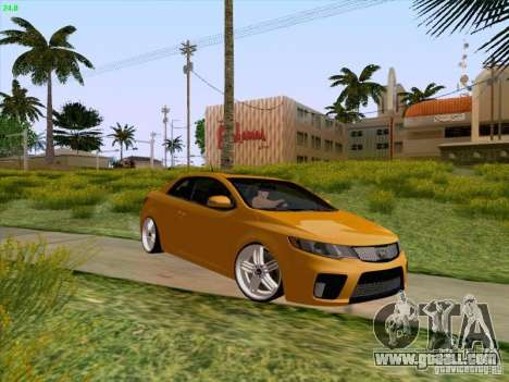 Kia Cerato Coupe 2011 for GTA San Andreas upper view
