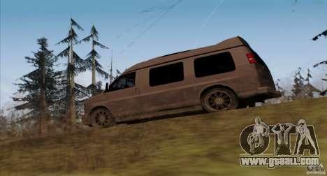 GMC Savana AWD for GTA San Andreas back left view
