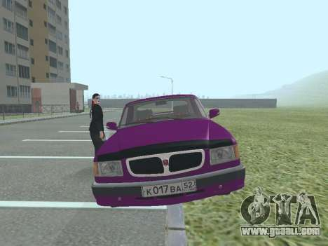 GAZ 3110 Volga for GTA San Andreas back left view