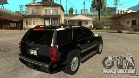GMC Yukon Unmarked FBI for GTA San Andreas right view