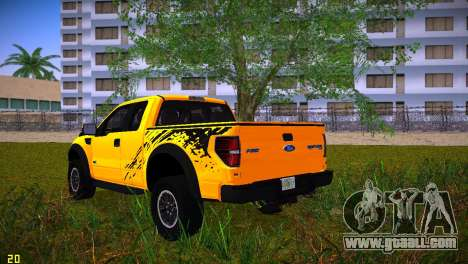 Ford F-150 SVT Raptor for GTA Vice City side view