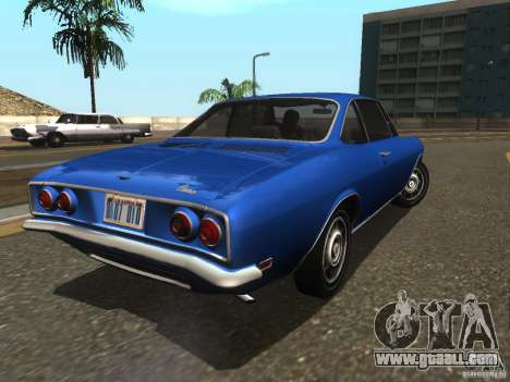 Chevrolet Corvair Monza 1969 for GTA San Andreas back left view
