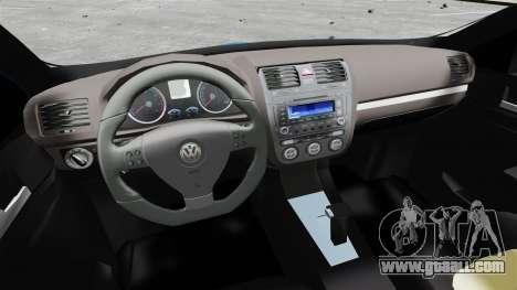 Volkswagen Jetta 2010 for GTA 4 back view
