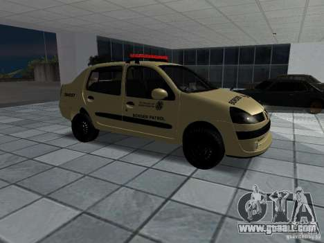 Renault Clio Symbol Police for GTA San Andreas right view