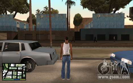 GTA V Interface for GTA San Andreas