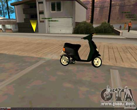 Piaggio Zip for GTA San Andreas right view