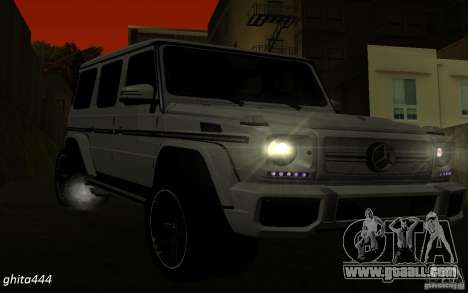 Mercedes Benz G65 AMG for GTA San Andreas right view