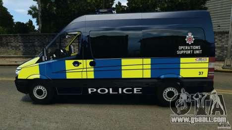 Mercedes-Benz Sprinter Police [ELS] for GTA 4 left view