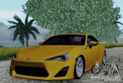 Toyota GT86 for GTA San Andreas bottom view