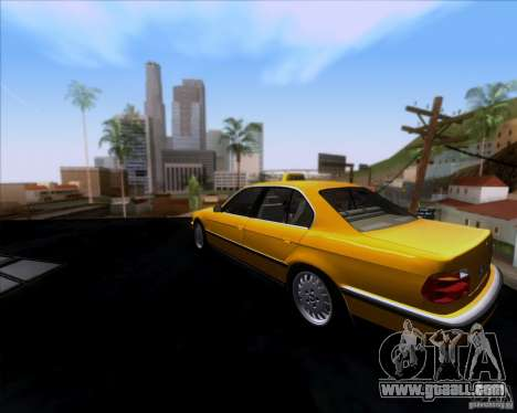 BMW 730i E38 1996 Taxi for GTA San Andreas back left view