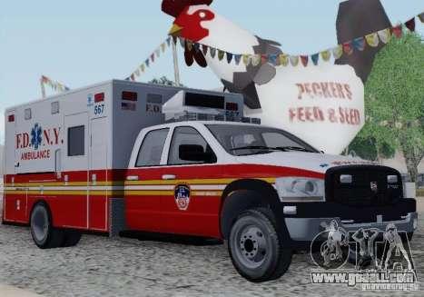 Dodge Ram Ambulance for GTA San Andreas