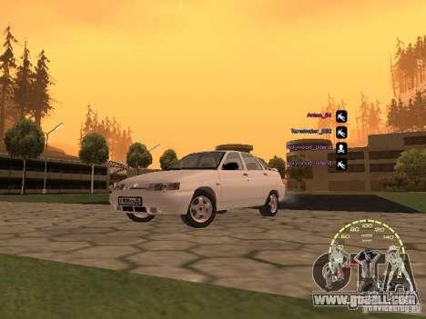 Speedometer Lada Priora for GTA San Andreas forth screenshot