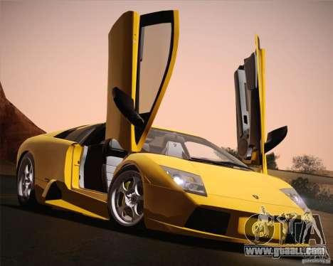 Lamborghini Murcielago 2002 v 1.0 for GTA San Andreas upper view