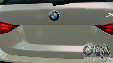 BMW X1 for GTA 4 bottom view