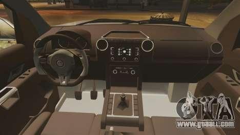 Volkswagen Amarok TDI for GTA 4 inner view