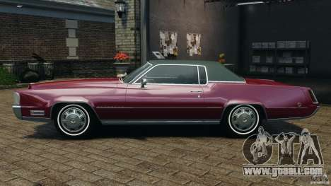 Cadillac Eldorado 1968 for GTA 4 left view