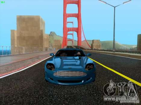 Aston Martin DB9 for GTA San Andreas left view